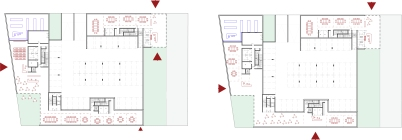 accès hall plan de rdc